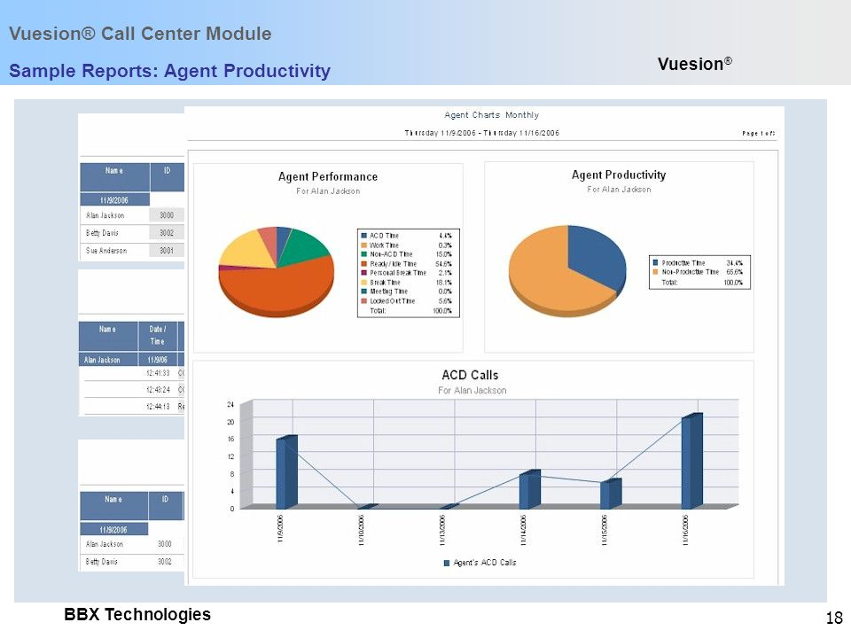 Sample Reports: Agent Productivity