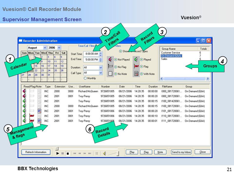 Supervisor Management Screen