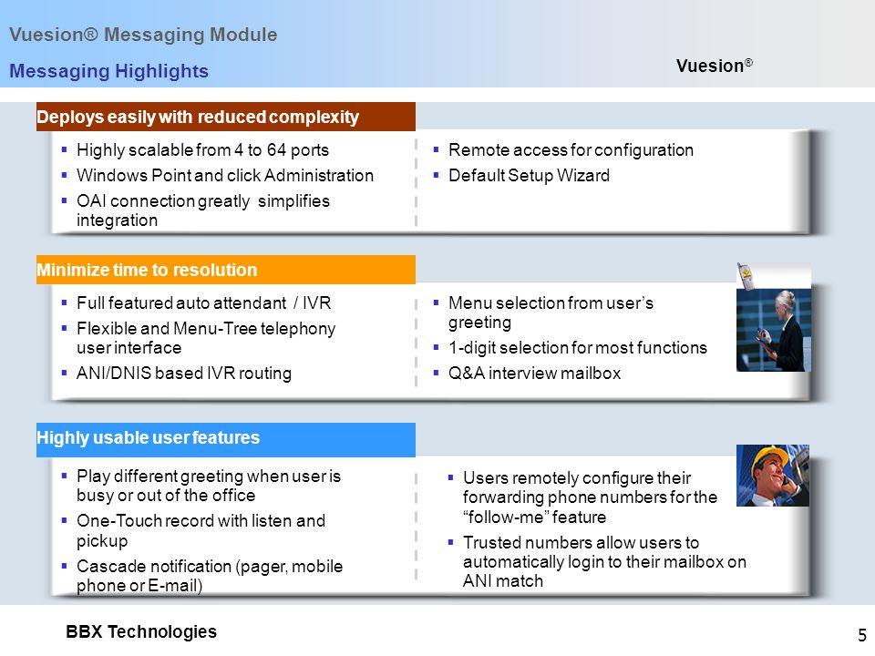 Vuesion® Messaging Module