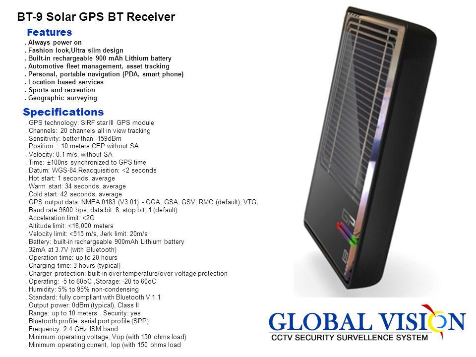 BT-9 Solar GPS BT Receiver