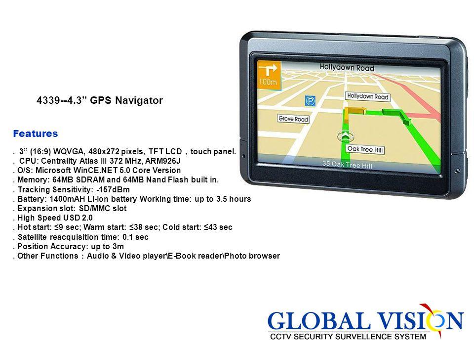 4339--4.3 GPS Navigator Features