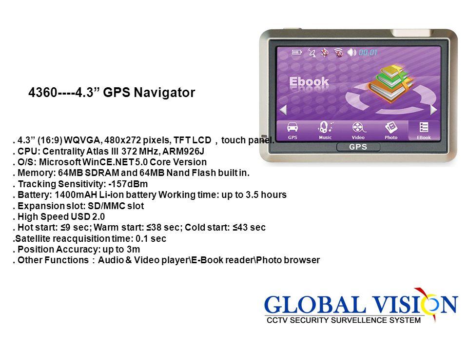 4360----4.3 GPS Navigator