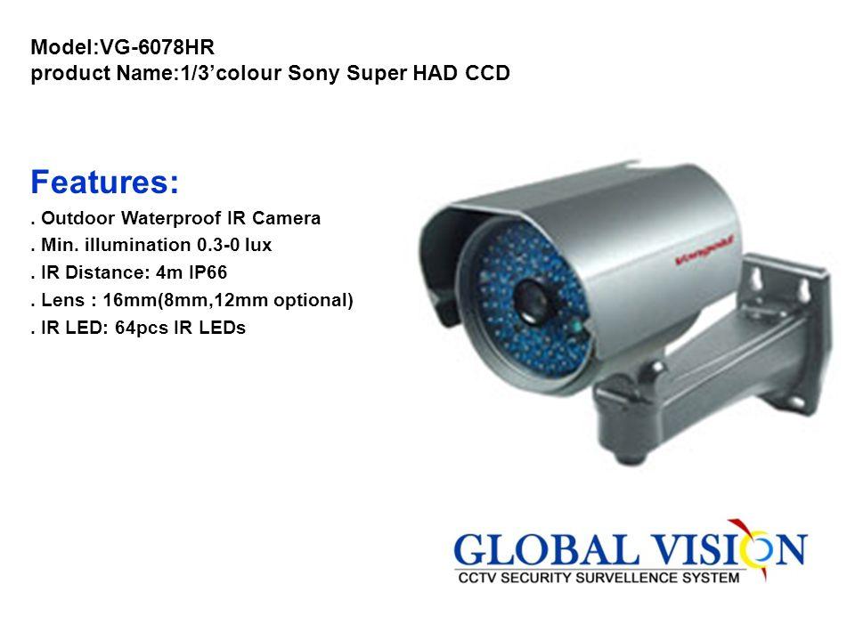 Model:VG-6078HR product Name:1/3'colour Sony Super HAD CCD
