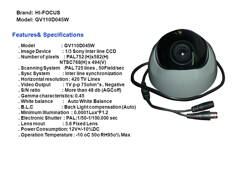 Features& Specifications