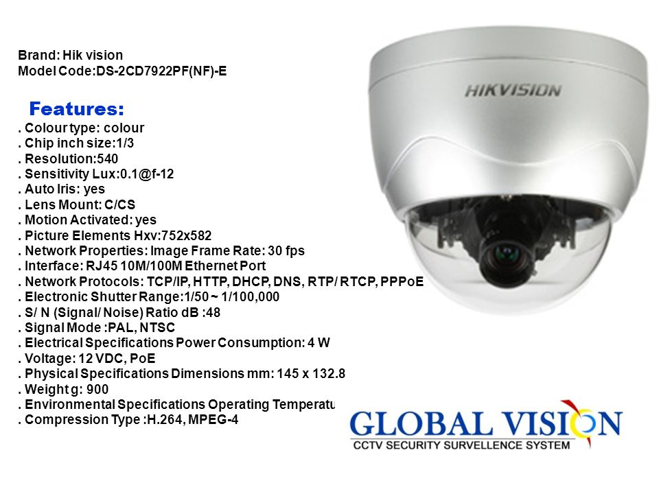 Features: Brand: Hik vision Model Code:DS-2CD7922PF(NF)-E