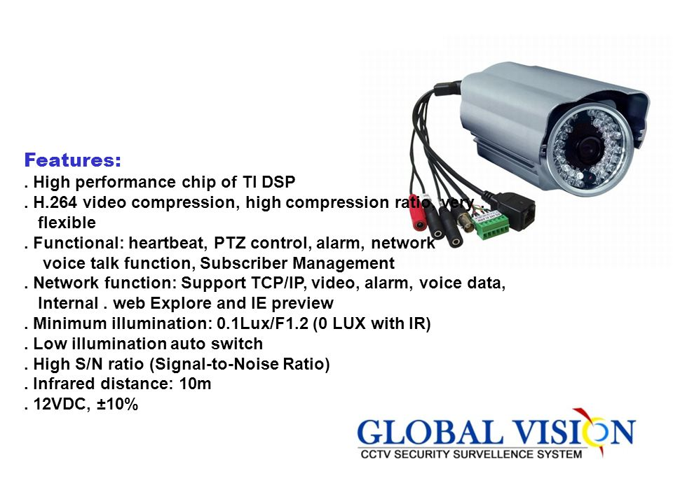 Features: . High performance chip of TI DSP