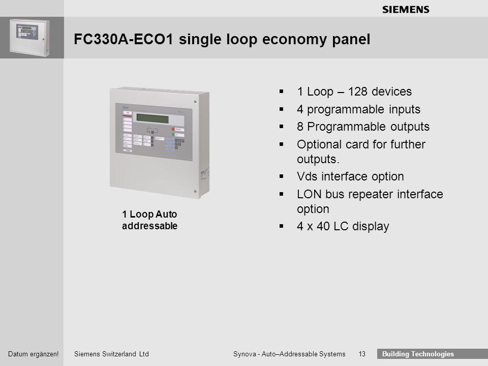 FC330A-ECO1 single loop economy panel