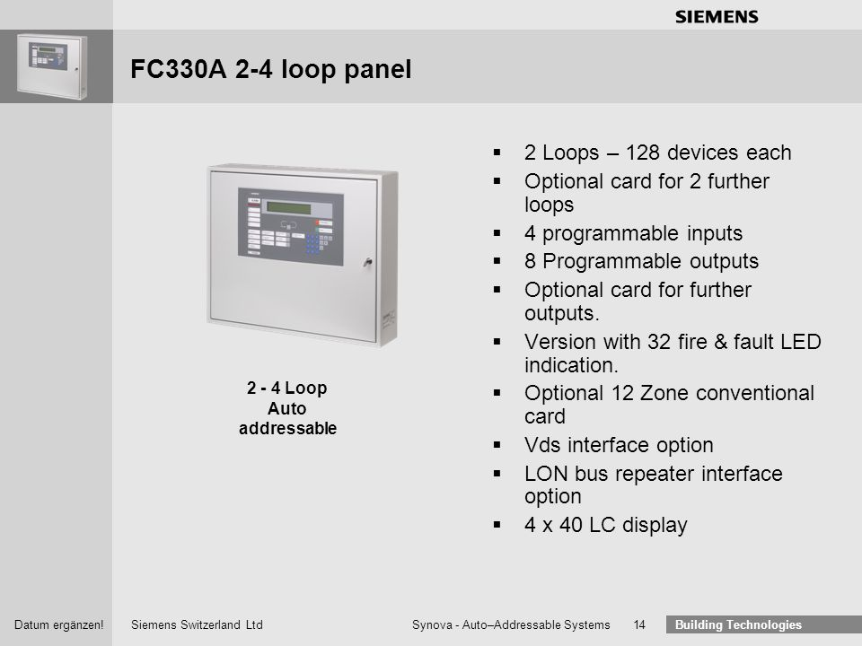 2 - 4 Loop Auto addressable