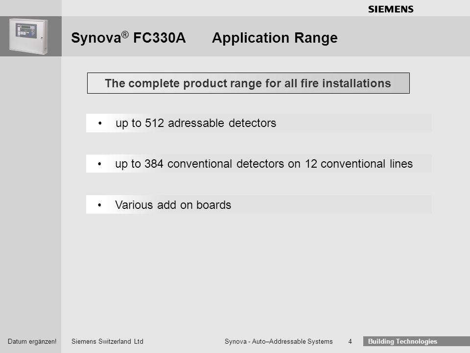 Synova® FC330A Application Range