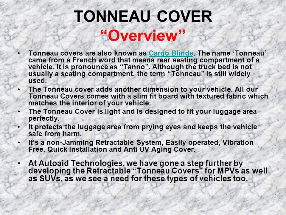 TONNEAU COVER Overview