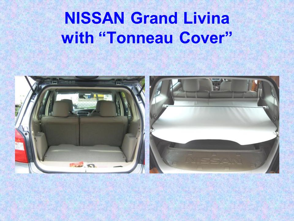 NISSAN Grand Livina with Tonneau Cover