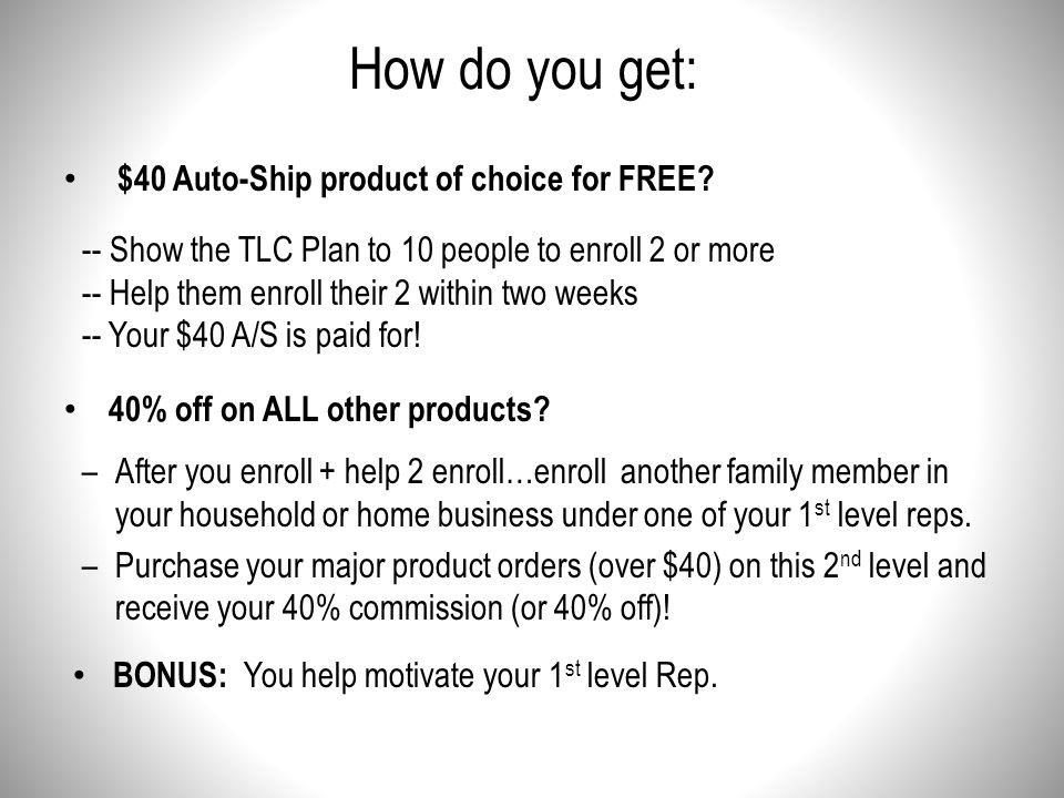 How do you get: $40 Auto-Ship product of choice for FREE