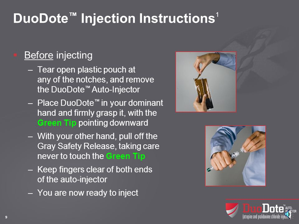 DuoDote™ Injection Instructions1 (contd)
