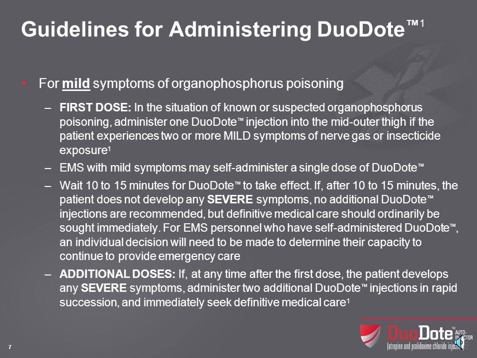 Guidelines for Administering DuoDote™1 (contd)