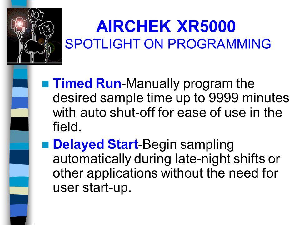 AIRCHEK XR5000 SPOTLIGHT ON PROGRAMMING