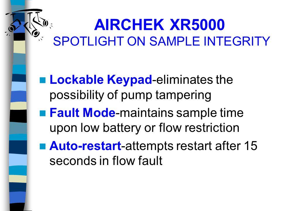 AIRCHEK XR5000 SPOTLIGHT ON SAMPLE INTEGRITY