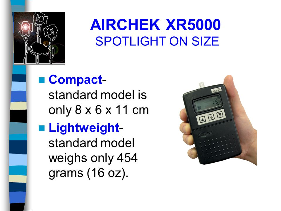 AIRCHEK XR5000 SPOTLIGHT ON SIZE