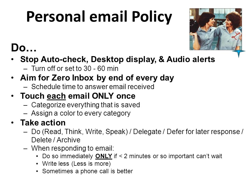 Personal email Policy Do…