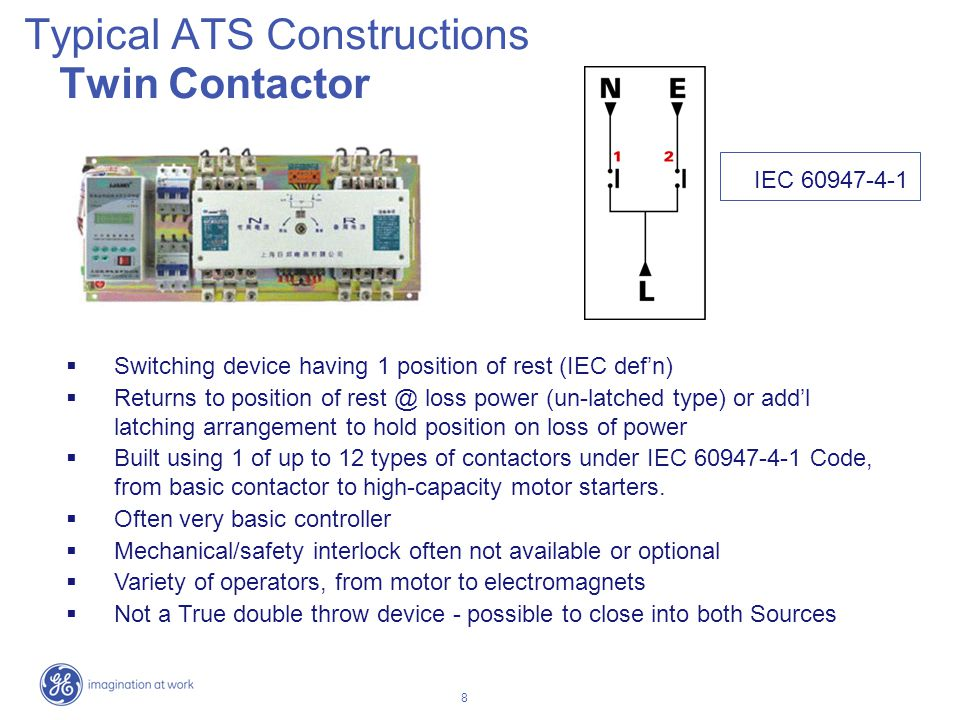 Typical ATS Constructions Twin Contactor
