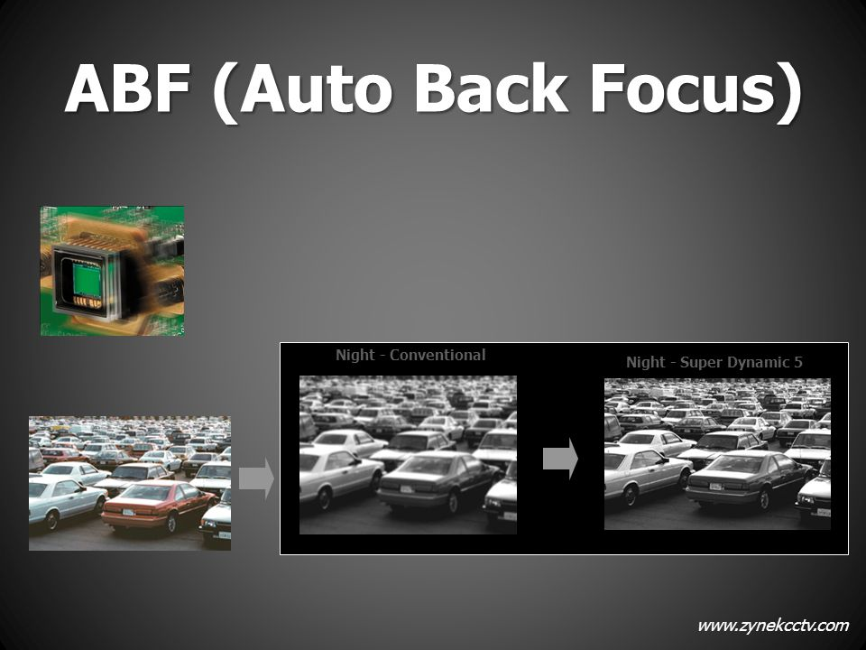ABF (Auto Back Focus) Night - Conventional Night - Super Dynamic 5 9