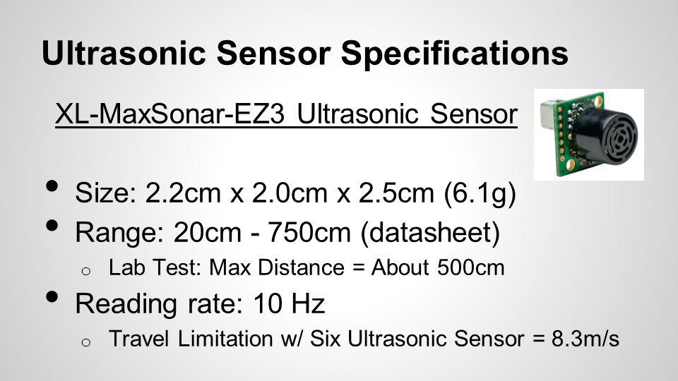 Ultrasonic Sensor Specifications