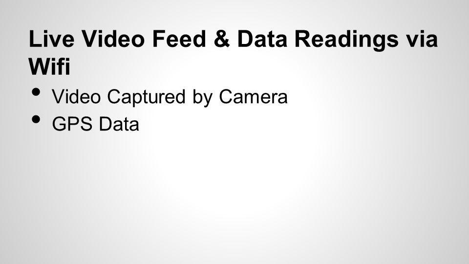 Live Video Feed & Data Readings via Wifi