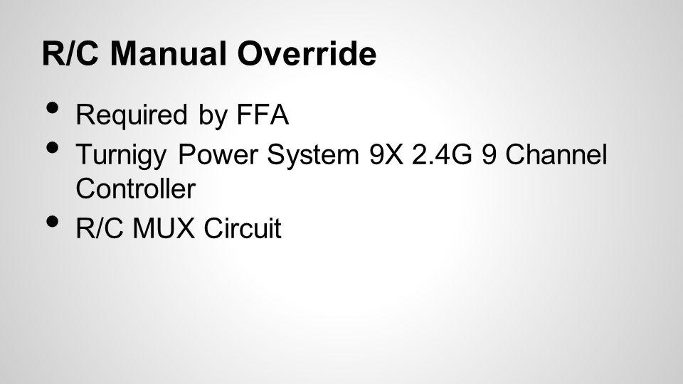 R/C Manual Override Required by FFA