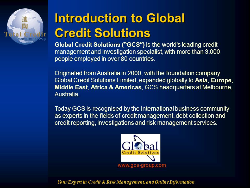 Introduction to Global Credit Solutions