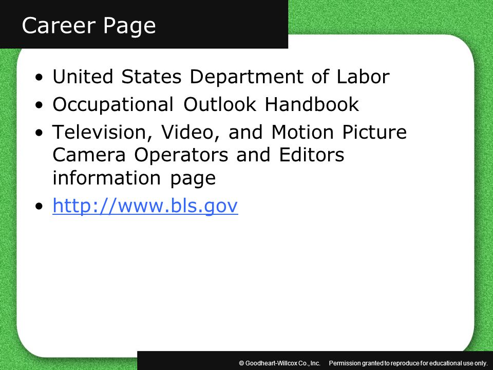 Career Page United States Department of Labor