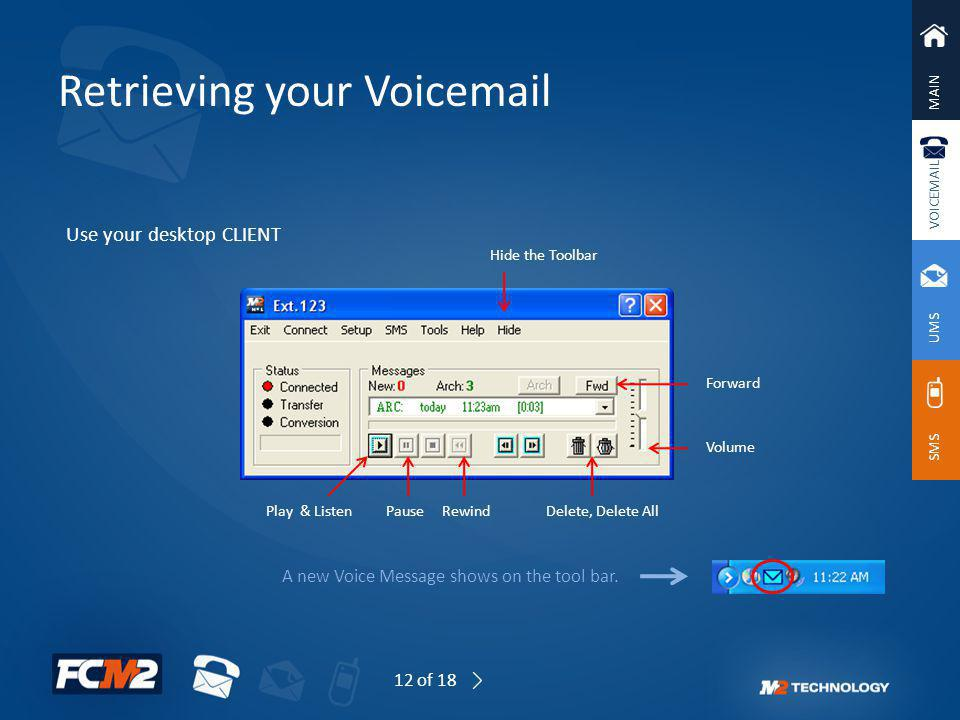 Retrieving your Voicemail