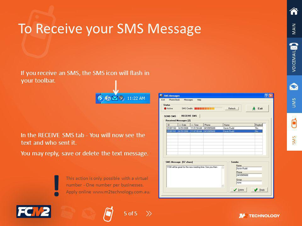 ! To Receive your SMS Message