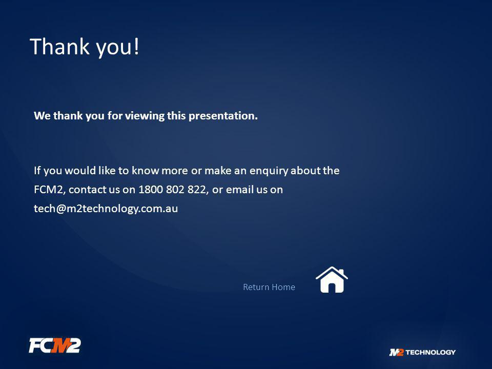 Thank you! We thank you for viewing this presentation.
