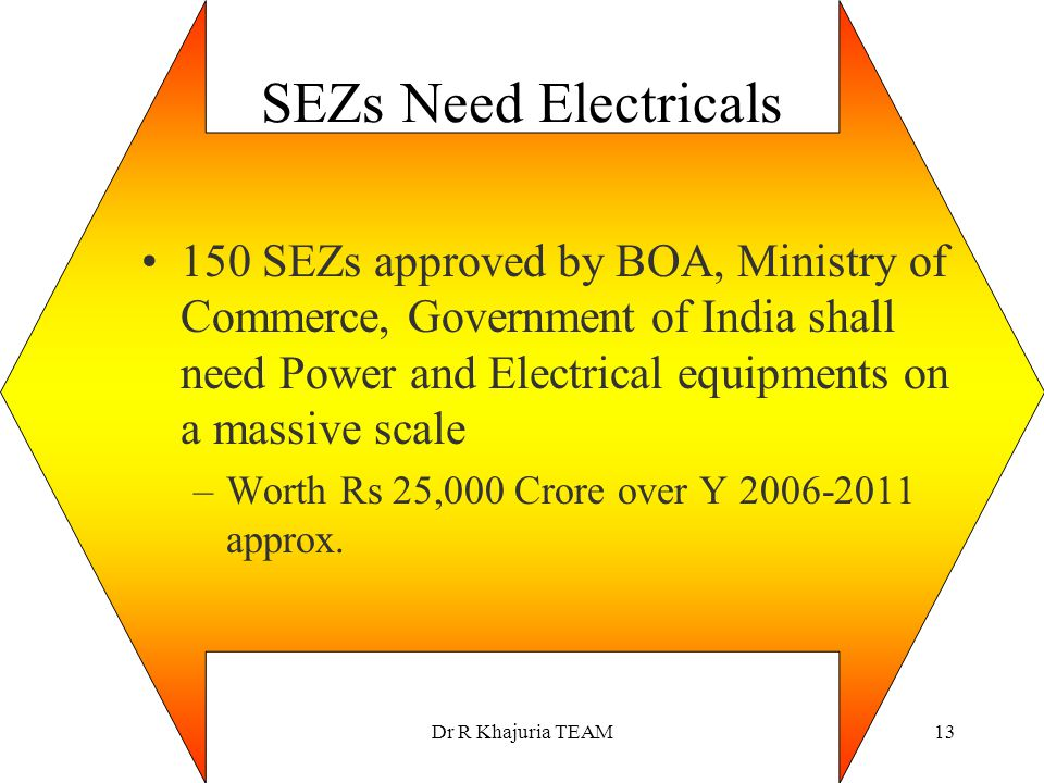 SEZs Need Electricals