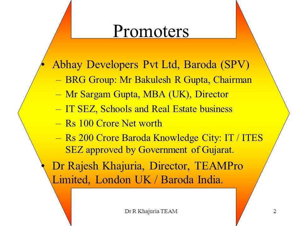 Promoters Abhay Developers Pvt Ltd, Baroda (SPV)