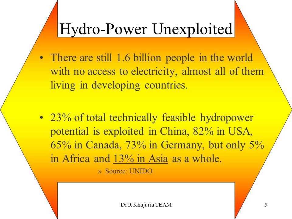 Hydro-Power Unexploited
