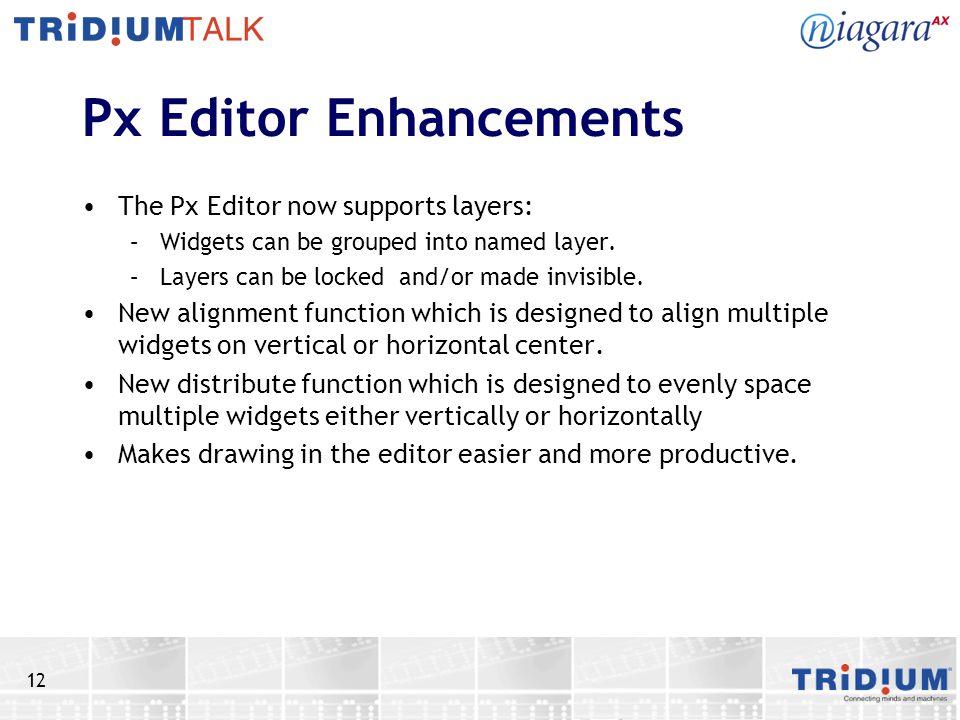 Px Editor Enhancements