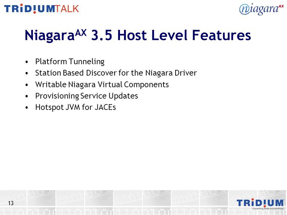 NiagaraAX 3.5 Host Level Features