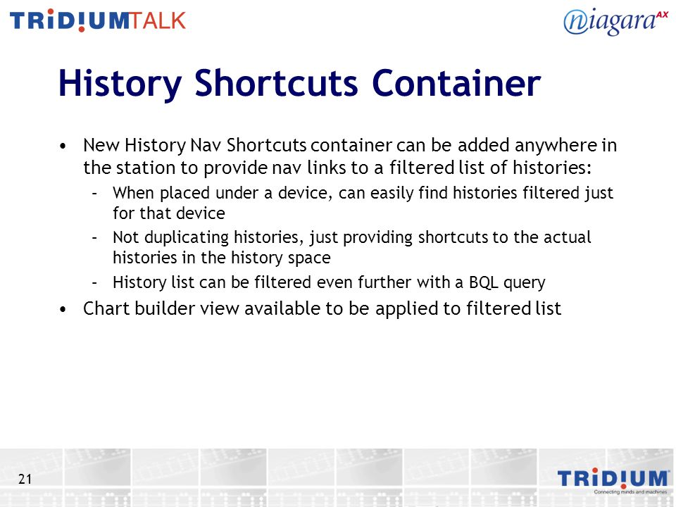 History Shortcuts Container