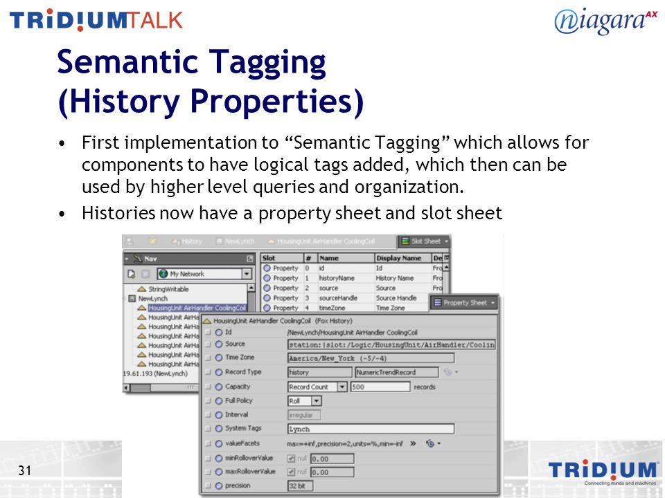 Semantic Tagging (History Properties)