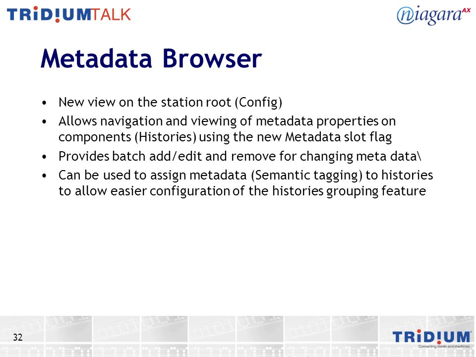 Metadata Browser New view on the station root (Config)