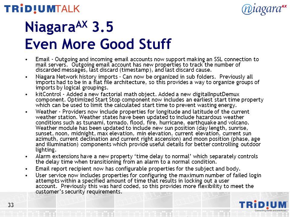 NiagaraAX 3.5 Even More Good Stuff