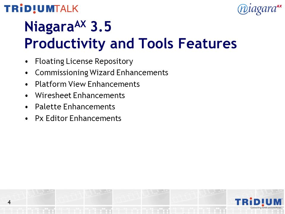 NiagaraAX 3.5 Productivity and Tools Features