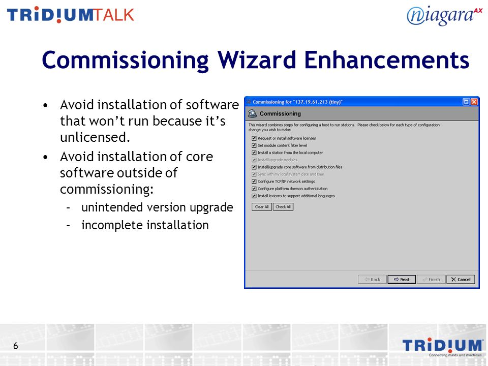 Commissioning Wizard Enhancements