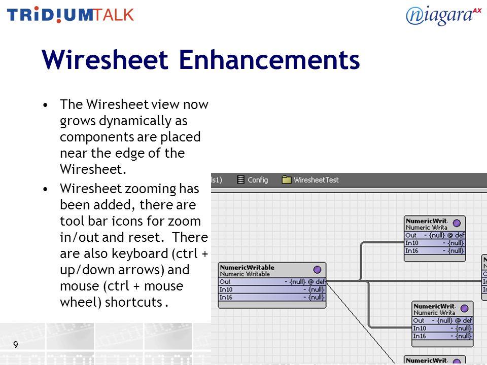 Wiresheet Enhancements