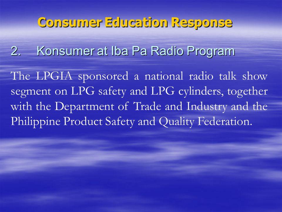2. Konsumer at Iba Pa Radio Program