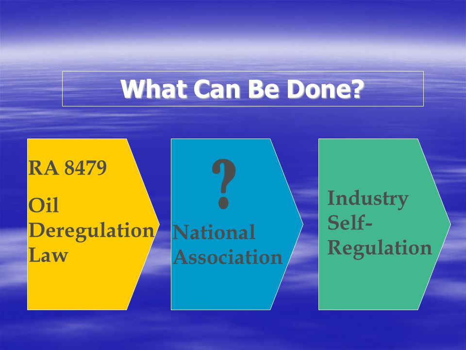 What Can Be Done RA 8479 Oil Deregulation Law
