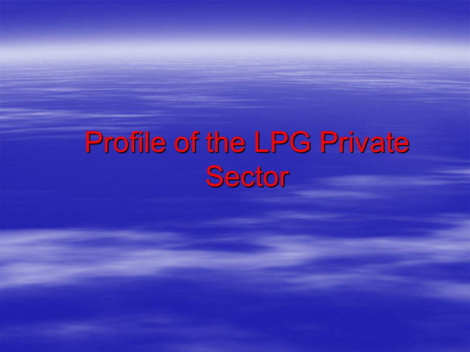 Profile of the LPG Private Sector
