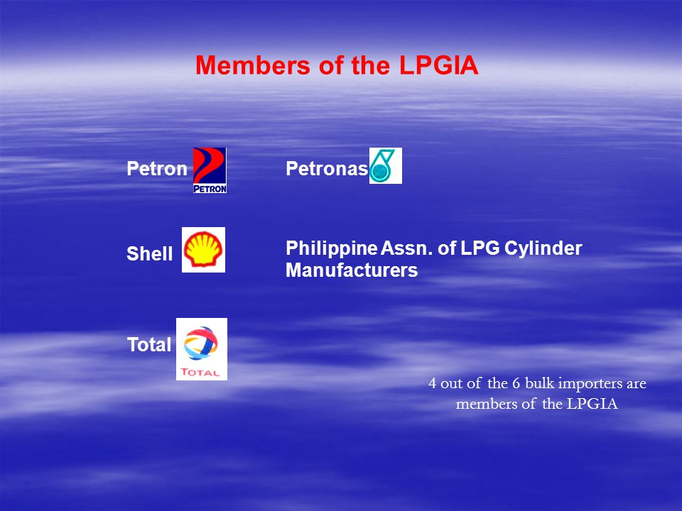 4 out of the 6 bulk importers are members of the LPGIA
