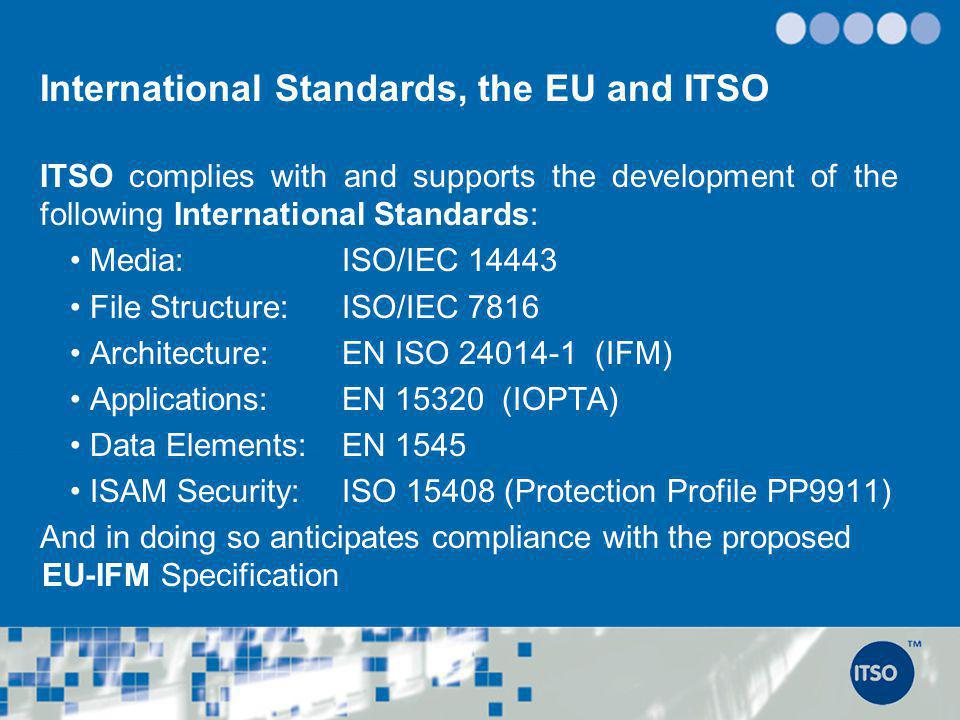 International Standards, the EU and ITSO