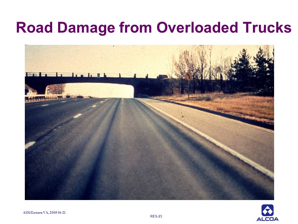 Road Damage from Overloaded Trucks